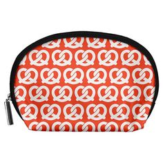 Coral+Pretzel+Illustrations+Pattern+Accessory+Pouches+(Large)++Accessory+Pouch+(Large)
