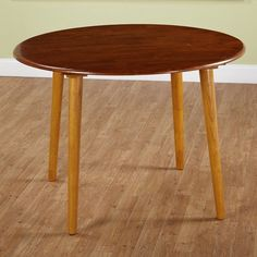 Simple Living Florence Modern Round Two-toned Oak Wood Dining Room or Kitchen Table for 4