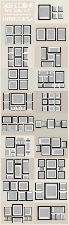 Sugestões de arranjo de quadros