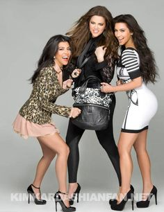 kim, khloe, kourtney. They do look pretty cool not going to lie,