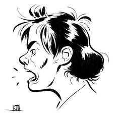 Yell! #photoshop #kyletwebsterbrushes #kylesbrushes #kylebrush #drawing #comicsart by kyle.t.webster