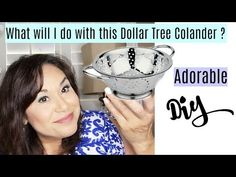 (66) Dollar Tree Adorable Colander DIY | Plus Giveaway & Review | Dollar Store DIY - YouTube