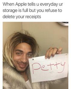 Those receipts are too precious to delete