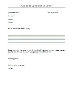 Sympathy Letter to Boss - Writing a letter of sympathy for the ...