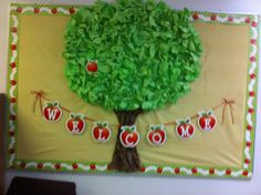 Back to School Bulletin Board. I added apples with each students name.