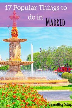 17 Popular Things to do in Madrid   Madrid Spain   Things to do in Spain   Madrid bucket list   Best Activities to do in Madrid   Madrid travel   Madrid travel guide   free things to do in Madrid #travel #traveltips #madrid #spain