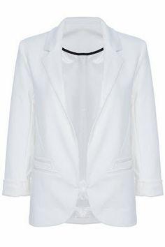 Pinkbelezura: Blazer Branco - Sheinside