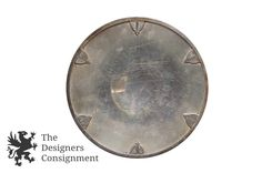 """Sheffield Art Deco E.P.N.S. Silver Plate 10"""" Serving Tray Platter Cocktail Bar 
