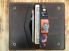 Leather passport wallet Leather iphone 6 wallet by DMleatherUA