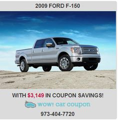 If you want an #amazing #deal  on an amazing car,  with some great #coupons, then take a look at this #gorgeous #FordF150 . This #F150 hits the mark in impressive #performance and #luxury. Visit us at www.wowcarcoupon.com for big savings!! #wowcarcoupon #couponbundles