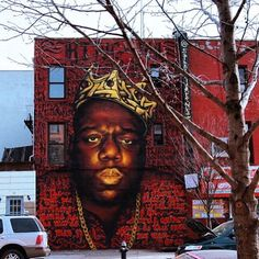 Rocko and Zimer painted this tribute mural to Biggie Smalls last October. We…