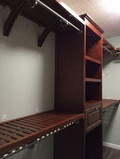 Allen Roth Closet In 2019 Closet Shelving Units, Shoe Shelf In Closet, Wood Closet Shelves, Wooden Closet, Closet Drawers, Shelving Systems, Closet Storage, Storage Racks, Closet Organization