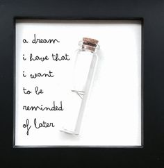 That dream of mine Time capsule by OnMoments on Etsy