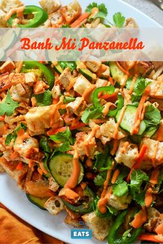 The flavors of banh mi in panzanella form.