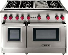 "Wolf - 48"" Gas Range, Model: GR486C - The cook in me needs this! My dream stove"