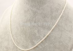 Cheap necklace hair, Buy Quality set width directly from China set pattern Suppliers:   Top Natural pearl 100% Real pearl Round Bead highlight Fashion 925 Silver Chain Ne