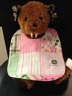 Pink John Deere Baby Bib by babybatboutique on Etsy, $10.99