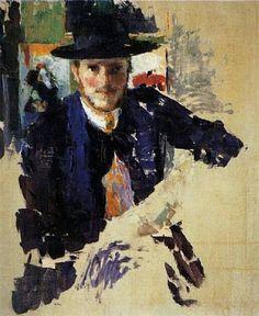 Rik Wooters -  Autoportrait à la veste de velours noir 1909