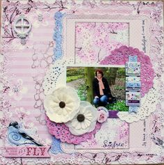 This is a lay-out I made for a publication with Bo Bunny's Secret Garden collection. @bobunny #scrapbooking