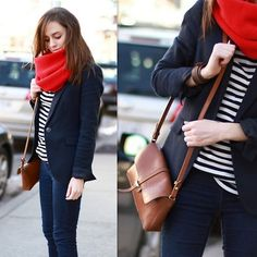 Rule of stripes and solid blue (by El _) http://lookbook.nu/look/3060963-rule-of-stripes-and-solid-blue