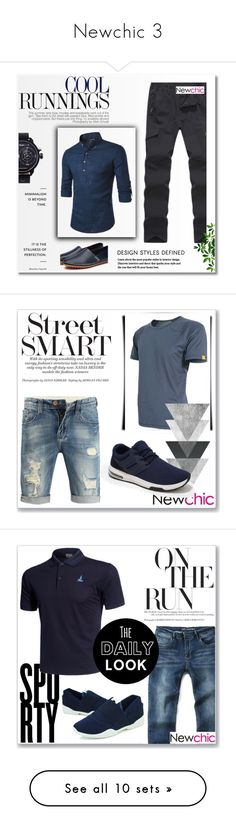"""""""Newchic 3"""" by abecic ❤ liked on Polyvore featuring men's fashion, menswear, Balmain, Wall Pops!, Native State and Improvements"""