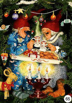 Inge Look Postcard 65 Old Lady Humor, Celtic Symbols, Funny Art, Old Women, Cute Art, Illustrators, Fantasy Art, Christmas Cards, Images