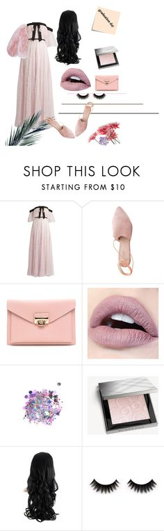 """""""Pretty, but Preppy."""" by pastelxcouture ❤ liked on Polyvore featuring Giambattista Valli, Post-It, Summit, The Gypsy Shrine, Burberry and Florence Bridge"""