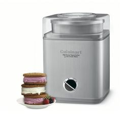 What's better than a quart of luscious homemade ice cream, sorbet, or frozen yogurt? Two quarts!This fully automatic Cuisinart Pure Indulgence automatic ice cream, frozen yogurt, and sorbet maker makes 2 quarts of your favorite frozen desse Ice Cream Maker Reviews, Best Ice Cream Maker, Sorbet Ice Cream, Yogurt Ice Cream, Frozen Yogurt Machine, Sorbet Maker, Dessert Makers, Yogurt Maker, Tents