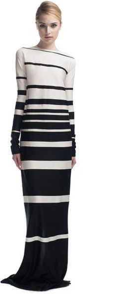 MARC JACOBS   Ss Panelled Stripe Silk Jersey Dress. I read recently that, contrary to conventional wisdom, horizontal stripes are actually slimming. Yay!
