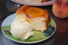 Easy Peach Upside Down Cake-5