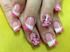 Gel Nails and Acrylic Nails for Women Nail Art Nail Art Designs, Fingernail Designs, White Nail Designs, Pretty Nail Designs, Acrylic Nail Designs, Diy Valentine's Nails, Fancy Nails, Pretty Nails, Manicure