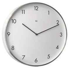"Check out this item at One Kings Lane! 16"" Futura Aluminum Wall Clock, White"