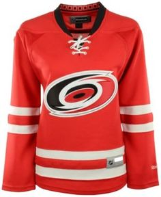 Reebok Women s Carolina Hurricanes Premier Jersey - Red XL Hurricane Logo 1c7207569