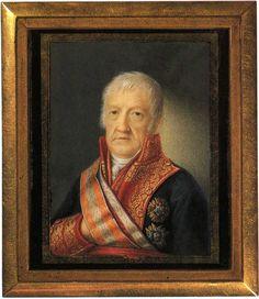 Florentino Decraene (1793-1854)  El general Francisco Javier Castaños Aragorri. Hacia 1835 Acuarela y guache sobre marfil. 67x52 mm  Museo estatal Pushkin. Moscú. Inv.14976