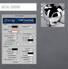 Vray Metl Chrome Material 3ds Max
