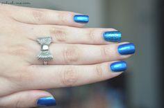 I'm Blue avec Psychedelic Blue de #Kiko & Angel Eyes de #Orly   #PolishMe