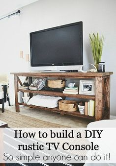 How to build a DIY rustic TV console
