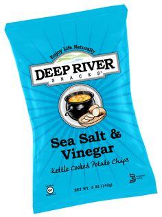Sea Salt & Vinegar Kettle Cooked Potato Chips- It has a distinctive ...