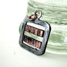 Industrial Pendant: Two Copper Stripes.