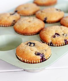 Vegan Blueberry Muffins - Bakerita - I use this recipe all the time and the whole family loves them. I change it a little bit by adding two bananas and more milk to get a more liquidy consistency. - Reichel