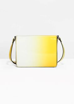 Love this vibrant yellow bag for sunny LA. & Other Stories | Patent Shoulder Bag