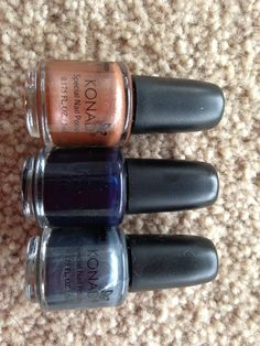 Newest colours of special stamping polish - brown, navy and grey. 5ml and 11ml  https://www.facebook.com/konadnailartsystem?ref=hl
