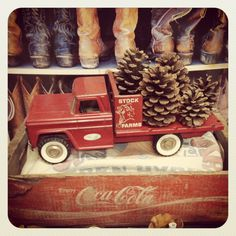 Christmas Decorating with Antiques www.gussyupwesternblog.com