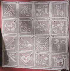 Beautiful Filet Crochet Wall Hanging for by VeryMaryKnitCrochet