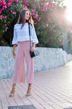 New outfit online :: Plissee Culottes & Chanel Boy Bag