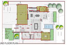4 Bedroom House for sale in Midstream Ridge Estate - P24-108821629 4 Bedroom House, Case Study, Floor Plans, Flooring, How To Plan, Wood Flooring, Floor, Floor Plan Drawing, House Floor Plans