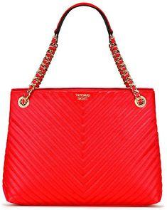 Victorias Secret Pebbled V-Quilt Shoulder Tote - afflink Victoria Secret Bags, Bag Making, Victoria's Secret, Shoulder Bag, Quilts, Style, Fashion, Party Shoes, Bordeaux
