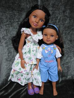 """Las Hearts for Hearts, pueden hacer de hermanitas pequeñas de las BFC :) Here, a HFH doll works well as """"little sister"""" to a BFC doll."""
