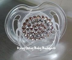 Metallic Bling Pacifier by RitzyGlitzyBaby on Etsy. $17.00, via Etsy.