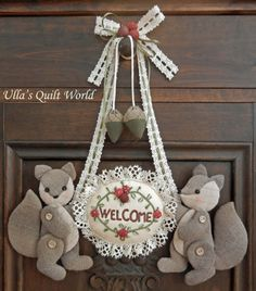 Ulla's Quilt World: Quilted Welcome-plaque, Japanese Patchwork
